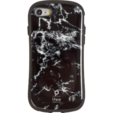 iFace First Class Marble ケース(ブラック)