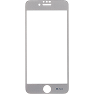 iFace Round Edge Color Glass Screen Protector  ラウンドエッジ強化ガラス 液晶保護シート(シルバー)