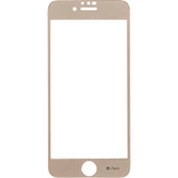 iFace Round Edge Color Glass Screen Protector  ラウンドエッジ強化ガラス 液晶保護シート(ゴールド)