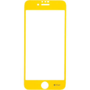 iFace Round Edge Color Glass Screen Protector  ラウンドエッジ強化ガラス 液晶保護シート(イエロー)