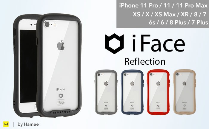 人気のクリアiFace ReflectionにiPhone 6s/6/8Plus/7Plus機種用が追加!