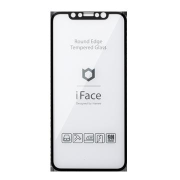 iFace Round Edge Tempered Glass Screen Protector ラウンドエッジ強化ガラス 画面保護シート(ブラック)