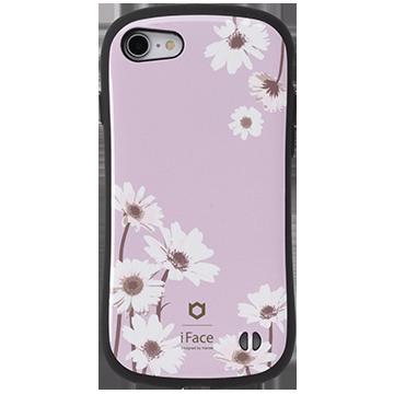 iFace First Class Flowersケース(ガーベラ/パープル)