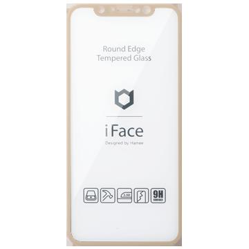 iFace Round Edge Tempered Glass Screen Protector ラウンドエッジ強化ガラス 画面保護シート(ベージュ)