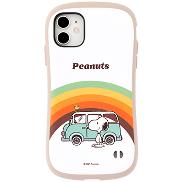 PEANUTS/ピーナッツ iFace First Class Cafeケース(レインボー)