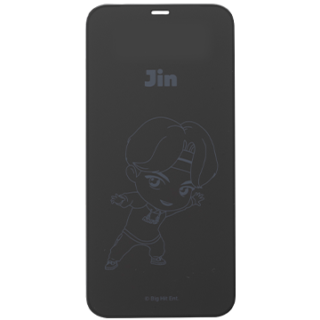 TinyTAN iFace Round Edge Tempered Glass Screen Protector ラウンドエッジ強化ガラス 画面保護シート(Jin)