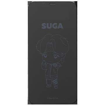 TinyTAN iFace Round Edge Tempered Glass Screen Protector ラウンドエッジ強化ガラス 画面保護シート(SUGA)
