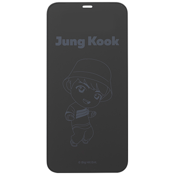 TinyTAN iFace Round Edge Tempered Glass Screen Protector ラウンドエッジ強化ガラス 画面保護シート(Jung Kook)