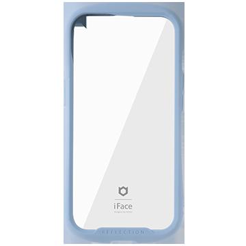 iFace Reflection強化ガラスクリアケース(ペールブルー)